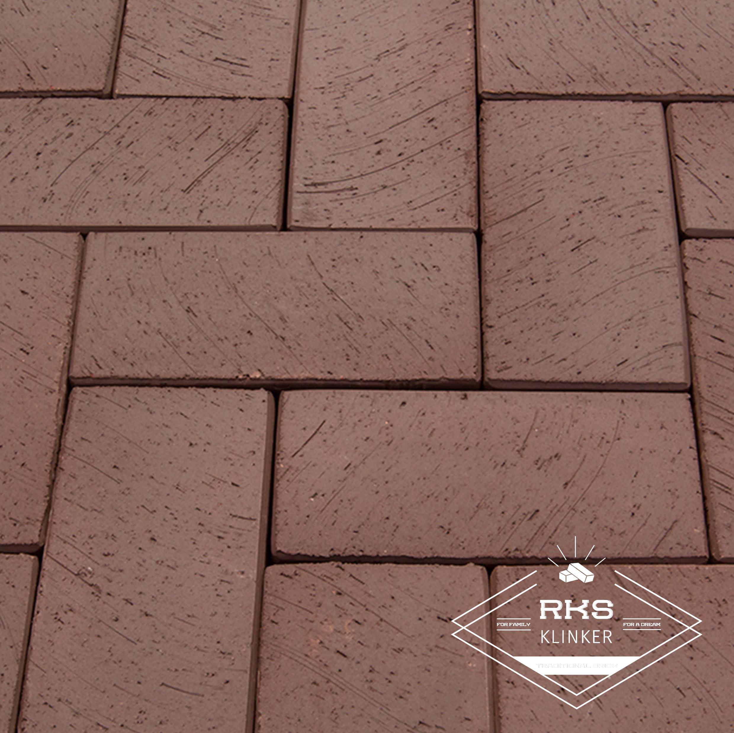 Клинкерная тротуарная плитка LODE, Brunis, коричневый в Волгограде
